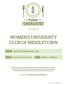 Women's University Club of Middletown Panera Bread Fundraising Event @ Panera Bread   Middletown   New York   United States